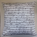 "Cushion Cover in Timeless Treasures Musical Music Notes Score 14"" 16"" 18"" 20"""